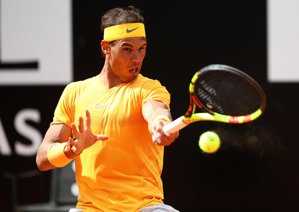 Rafael Nadal used his big forehand to devastating effect on Thursday. Photo: Dean Mouhtaropoulos/Getty Images