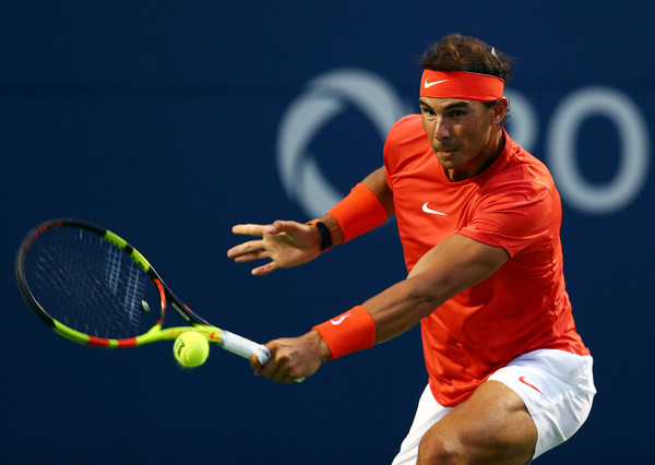 Nadal had to spend a lot of the matching defending a barrage from Wawrinka. Photo: Getty Images