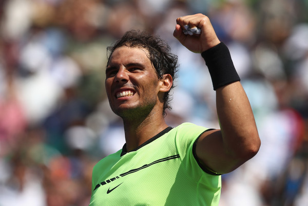 Nadal celebrates his semifinal victory. Photo: Julian Finney/Getty Images