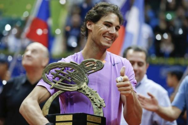 Nadal returned to form in 2013 with a win in Sao Paulo, pictured. Photo: Ricardo Buffolin/Getty Images