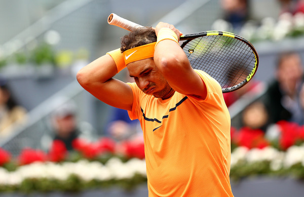 Rafael Nadal shows his frustration during his semifinal loss. Photo: Clive Brunskill/Getty Images