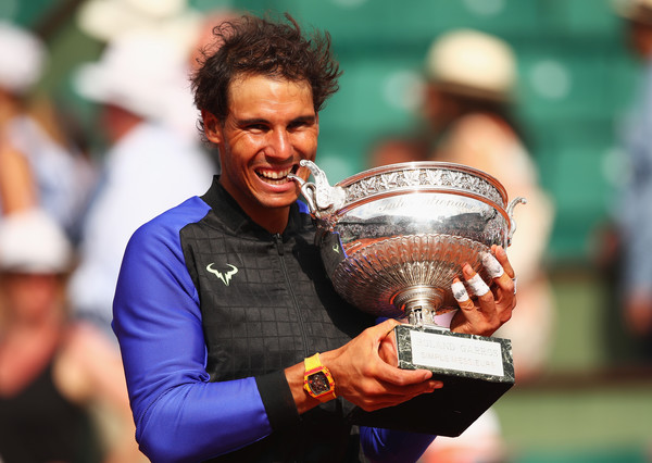 Rafael Nadal will look to sink his teeth into an 11th Coupe des Mousquetaires in two weeks time, having won his tenth a year ago. Photo: Clive Brunskill/Getty Images