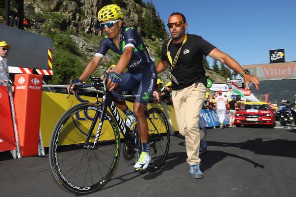 Quintana, dopo il traguardo. Fonte foto: Getty Images Europe.