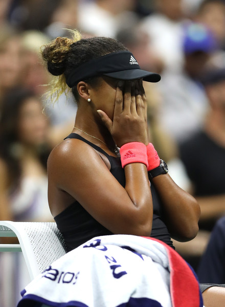 An emotional Naomi Osaka reacts after winning the second title of her career, the 2018 U.S. Open. | Photo: Matthew Stockman/Getty Images