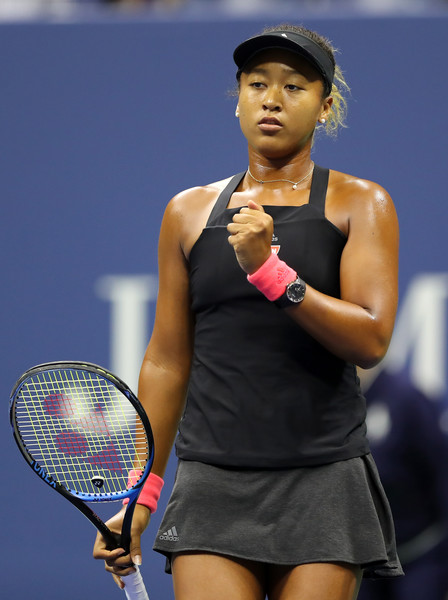 Naomi Osaka looked calm and collected throughout the opening set | Photo: Elsa/Getty Images North America