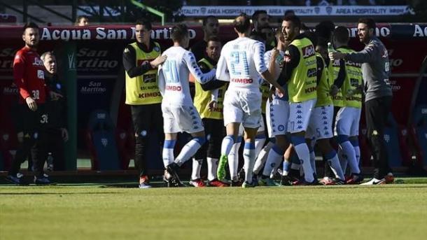 Cagliari-Napoli 0-5, it.eurosport.com