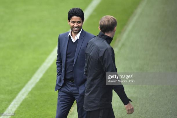 Nasser junto a Tuchel. Foto: Getty images.