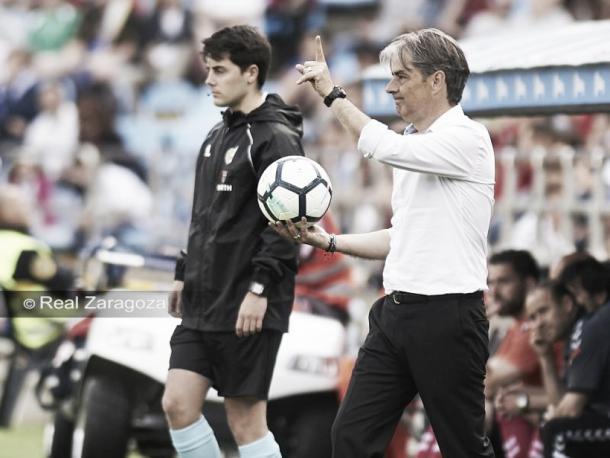 Nacho González entrenando al Zaragoza // LaLiga 1|2|3
