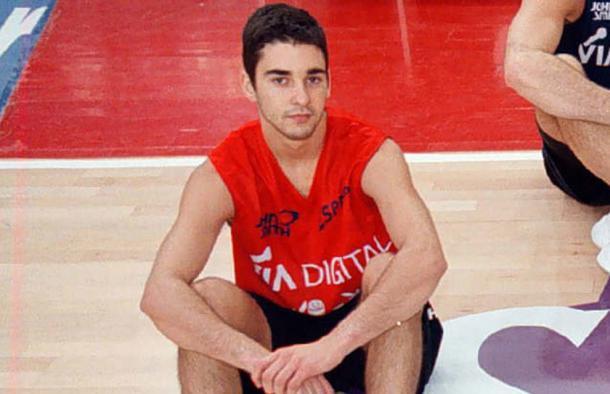 Juan Carlos Navarro en su primera convocatoria con la Selección en 1999 (Foto: Francesc Adelantado)