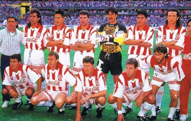 Necaxa campeón en la 94-95 / Fuente: Pasión Rojiblanca