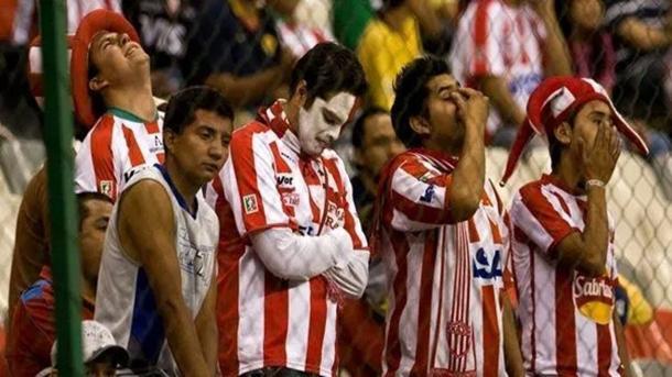 La afición de Aguascalientes lamentaba el primer descenso del club / Fuente: Twitter