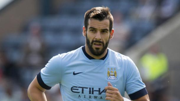 Negredo while with Manchester City. (Picture from Sky Sports)