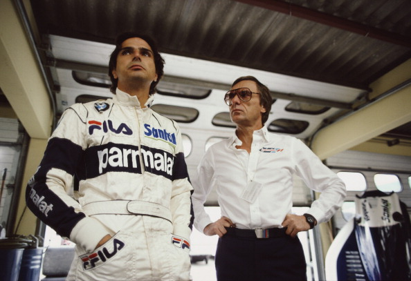 Piquet (esq.) e Ecclestone (dir.) trabalharam juntos por sete anos na Brabham (Foto: Rainer W. Schlegelmilch/Getty Images)