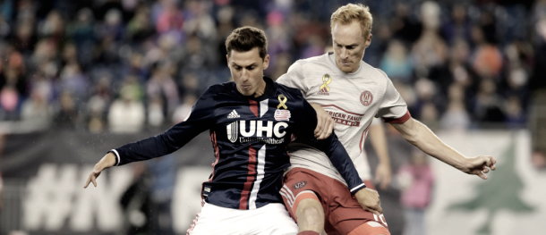 Krisztian Nemeth vs. Atlanta United FC | Photo: New England Revolution