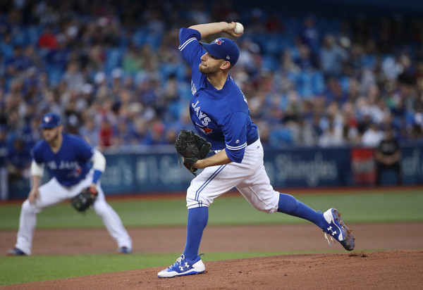 Fresh off signing a one-year extension with the Blue Jays, Marco Estrada had another impressive outing at Rogers Centre, giving up just one run on three hits over seven innings.   Photo: Tom Szczerbowski/Getty Images
