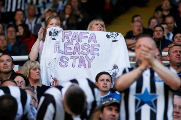 Newcastle fans were determined to convince Rafa to stay. (Photo: Action Images via Reuters / Lee Smith)