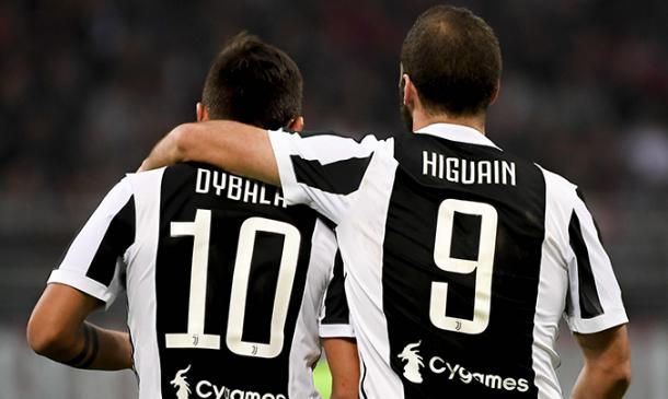 Dybala e Higuaín gostam de marcar contra o Milan (Foto: Divulgação/AC Milan)