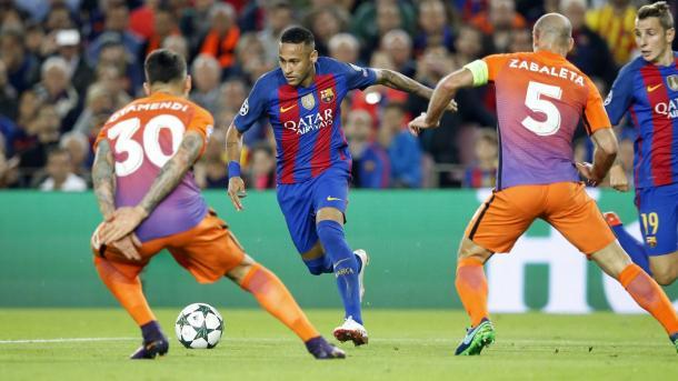 Ney persistió hasta obtener el premio del gol | Foto: FCB