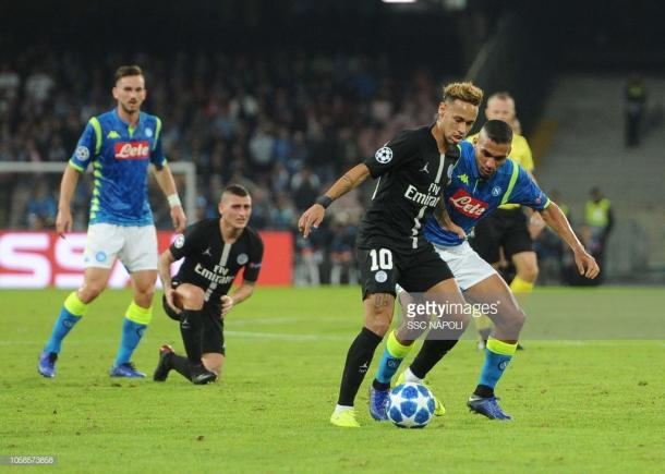 Neymar en el San Paolo. Foto: Getty images.