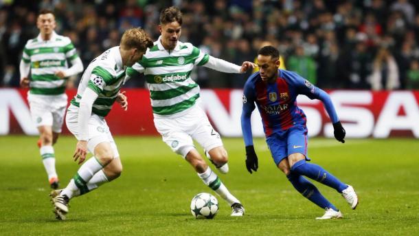 Neymar no acabó el partido. Fue sustituido por Arda   Foto: FCB