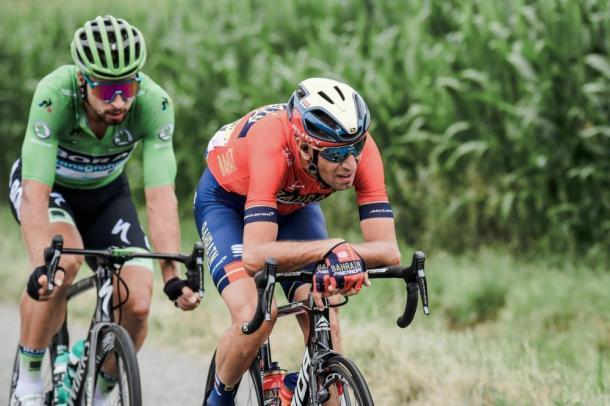 Nibali y Sagan, protagonistas de la primera fuga camino del Tourmalet. | Foto: LeTour