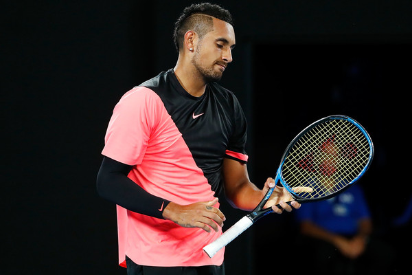Nick Kyrgios was extremely frustrated with himself during the match | Photo: Michael Dodge/Getty Images AsiaPac