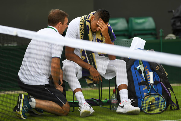 A familiar sight for Kyrgios viewers this year (Photo: Shaun Botteril/Getty Images Europe)