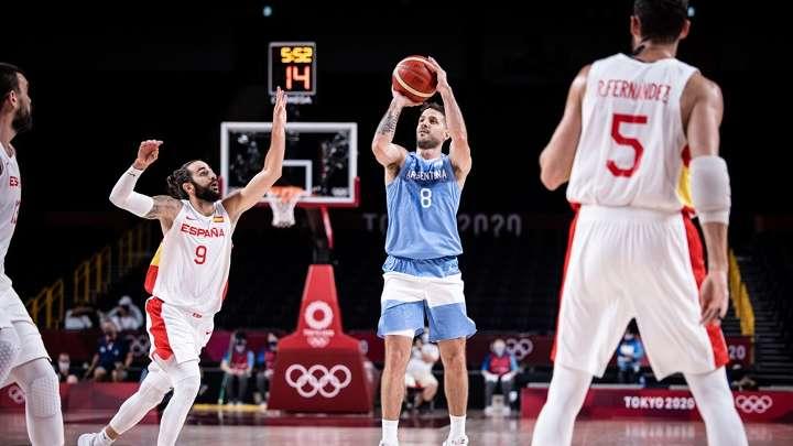 Nico Laprovittola en acción contra España. FUENTE: NBA