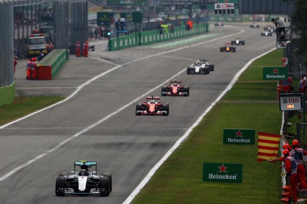 Nico Rosberg durante el GP de Italia   Fuente: Getty Images