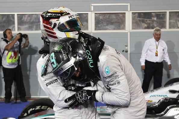 Hamilton y Rosberg en 2014. Foto: Getty Images
