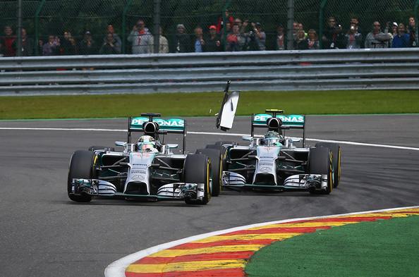 Hamilton y Rosberg en SPA 2014. Foto: Getty Images