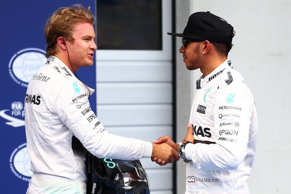 Hamilton y Rosberg en 2015. Foto: Getty Images