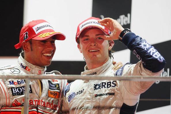 Hamilton y Rosberg en 2007. Foto: Getty Images