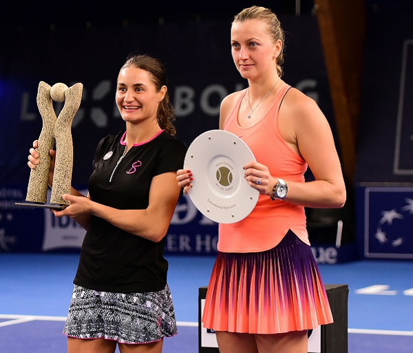 Kvitova made her second final of the year in Luxembourg, finishing runner-up to Niculescu. Photo credit: Jan McIntyre.