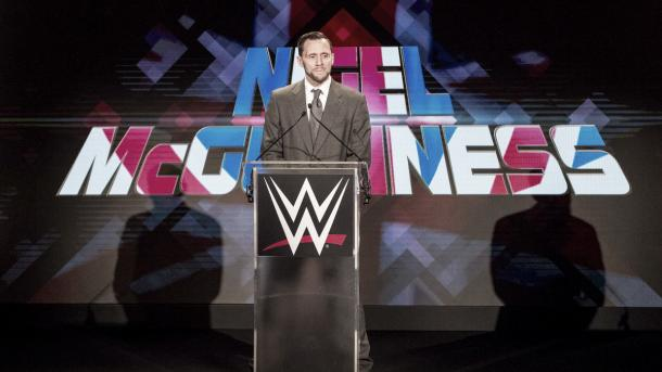 Nigel McGuinness will have the honor of calling the night with JR. Photo- WWE.com