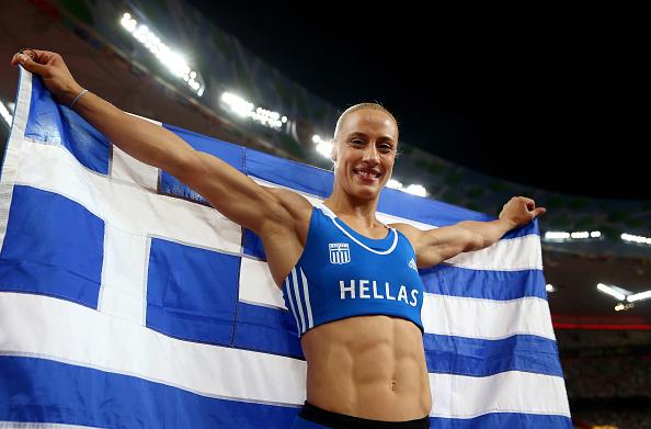 Kiriakopolou won the bronze medal at the World Championships last year (Getty/Michael Steele)