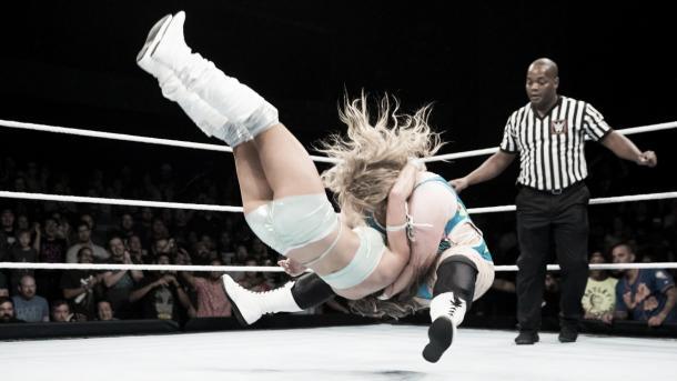 Niven earns a hard fought victory. Photo-WWE.com
