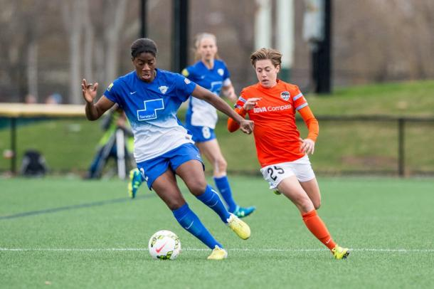 Ezurike came up against the very best in the NWSL, and will take this experience to Sweden. | Photo: Boston Breakers