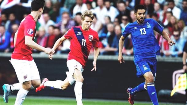Partido entre Noruega y Azerbaiyán. Foto: Selección de Noruega