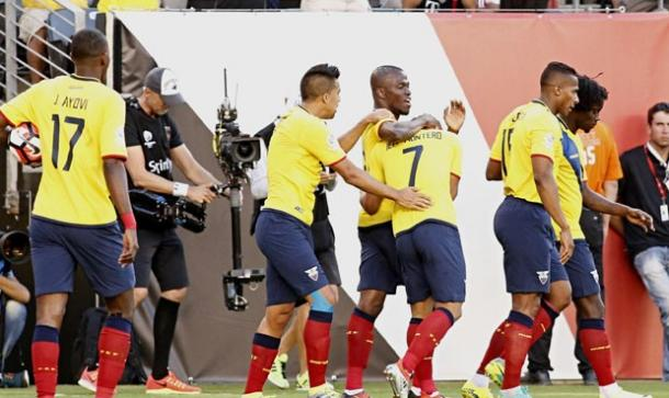 Ecuador was all business on Sunday against Haiti in their 4-0 victory. Photo provided by EFE.