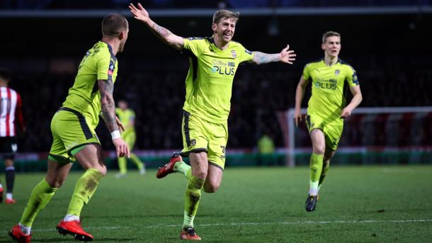 Jon Stead festeja el tanto de la victoria de los Magpies | Foto: Notts County.