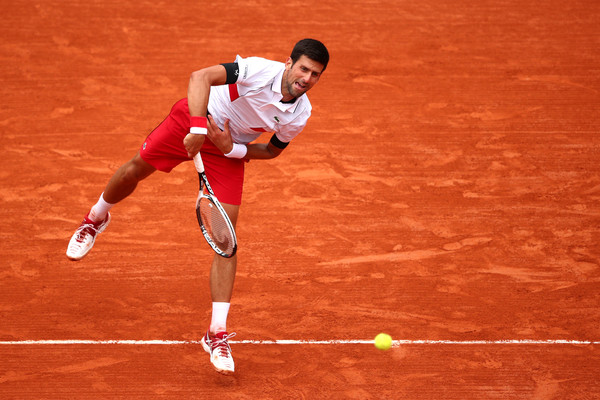 Djokovic serves during his third round win (Getty/Clive Brunskill)