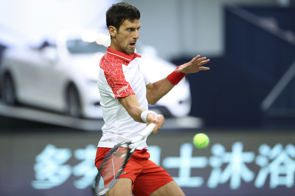 Terrific returning from Djokovic saw him break serve on four occasions | Photo: Lintao Zhang/Getty Images AsiaPac