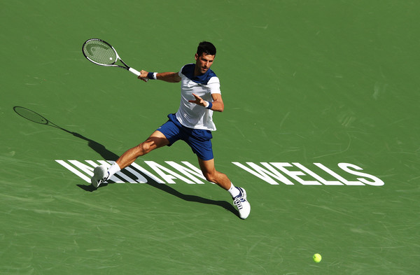 Novak Djokovic would rue his missed opportunities in the opening set, having wasted a 5-2 lead and a set point | Photo: Adam Pretty/Getty Images North America