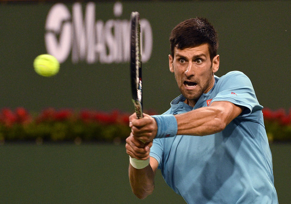 Novak Djokovic's backhand was working really well today | Photo: Kevork Djansezian/Getty Images North America