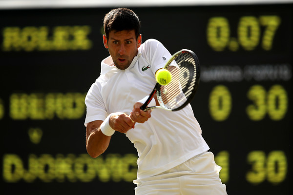 Djokovic in action (Photo: Julian Finney/Getty Images Europe)