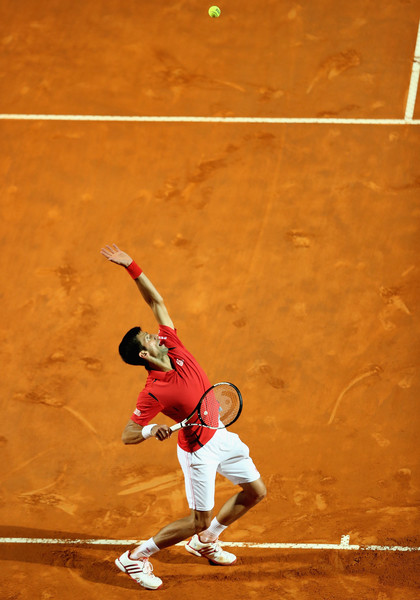 Novak Djokovic in Rome action. Photo: Matthew Lewis/Getty Images