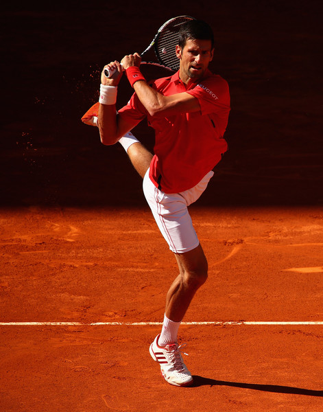 Novak Djokovic in Mutua Madrid Open action. Photo: Clive Brunskill/Getty Images