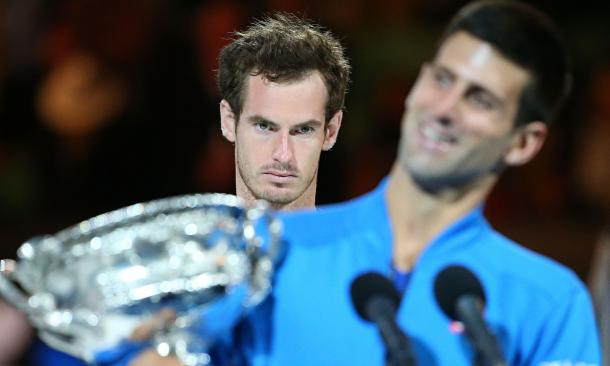Can Murray get the better of Djokovic today? (Photo: The Guardian)