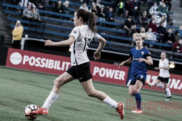 Kelley O'Hara captained Sky Blue in their home opener (Source: EarchPhoto - Vavel)